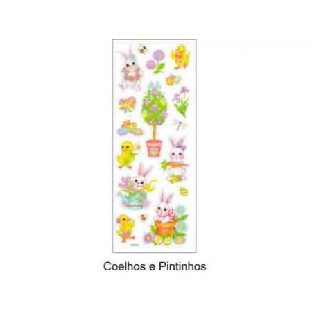 PAPEL DECOUPAGE COELHOS/PINTINHO 30X50CM