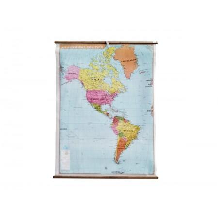 MAPA AMERICAS NORTE/SUL/CENTRAL POLITICO