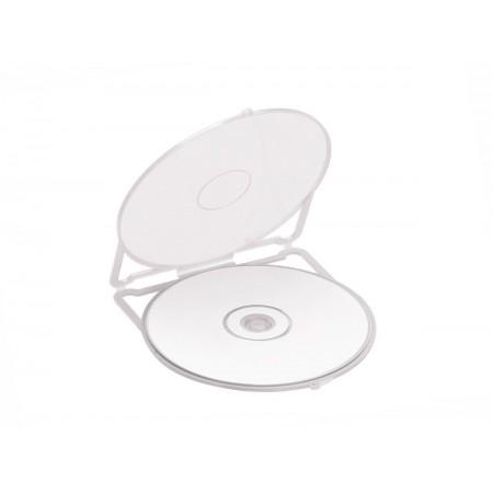 CAIXA CD/DVD PLASTICA PEQ.BRANCO C/12