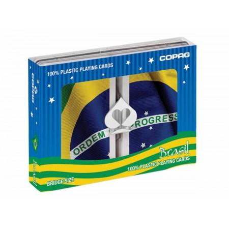 BARALHO PLASTICO BRASIL C/2