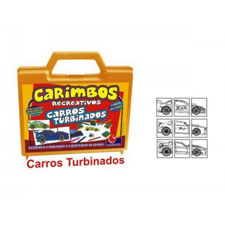 MALETA CARIMBO CARROS TURBINADOS C/9 CAR