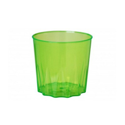 COPO ACRILICO 300ML.VERDE CL.WHISKY C/10