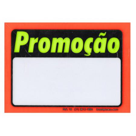 PLACA PVC 13X17 PROMOCAO LARANJA C/12