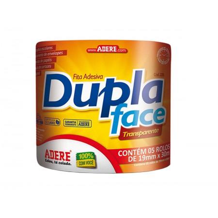 FITA DUPLA FACE 19X30 TRANS.ADERE C/5