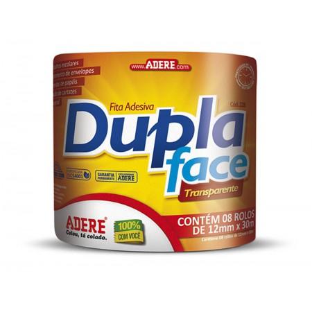 FITA DUPLA FACE 12X30 TRANS. ADERE C/8