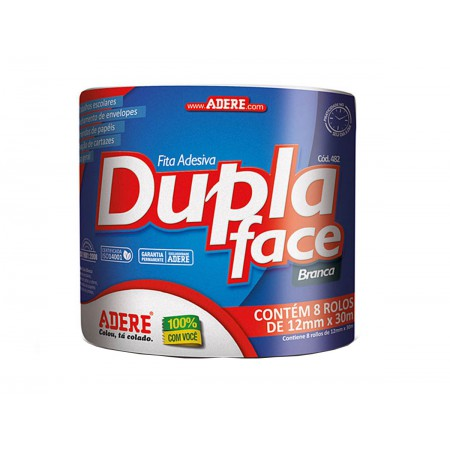 FITA DUPLA FACE 12X30 PAPEL ADERE C/8