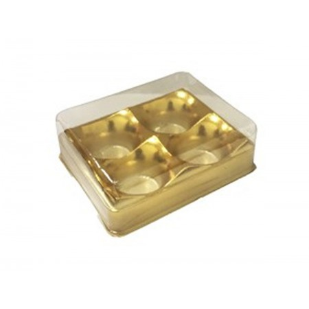 EMB.CANDY BOX OURO 4 DOCES C/10