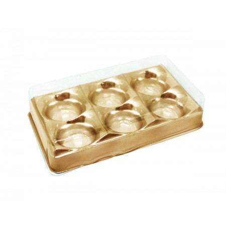 EMB.CANDY BOX OURO 6 DOCES C/10