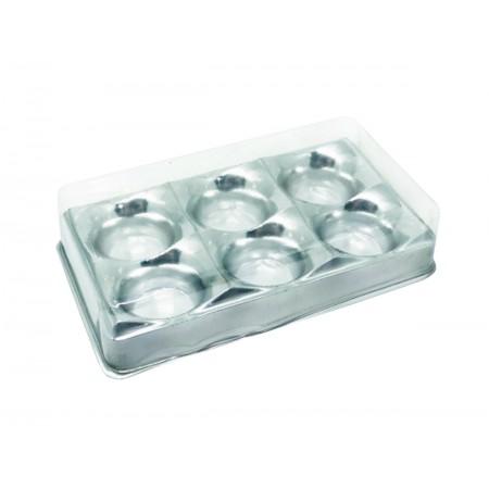 EMB.CANDY BOX PRATA 6 DOCES C/10