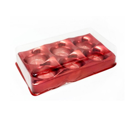 EMB.CANDY BOX VERMELHO 6 DOCES C/10