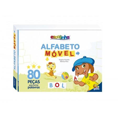 LIVRO ATIV.ESCOLINHA ALFABETO MOVEL 80PC