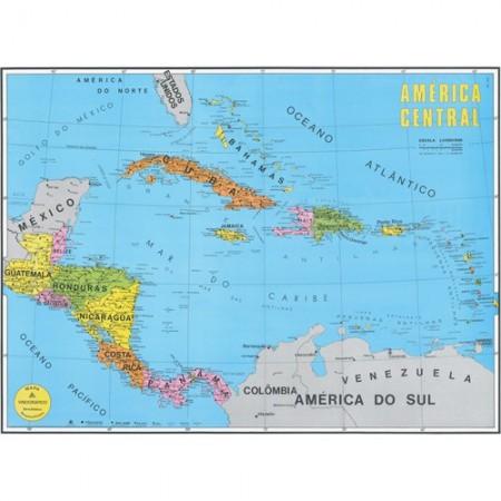 MAPA AMERICA CENTRO POLITICO