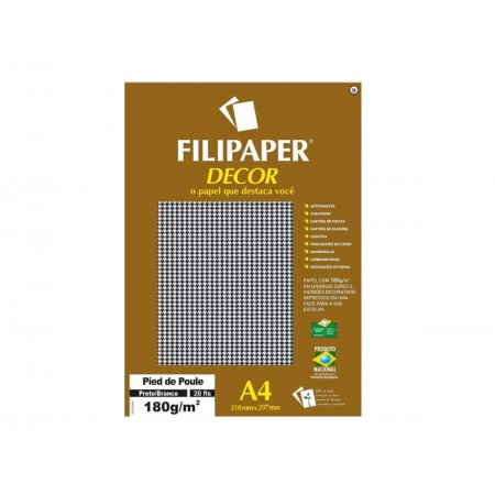 PAPEL COLOR SET A4 PIED PR/BR.180G.20F.
