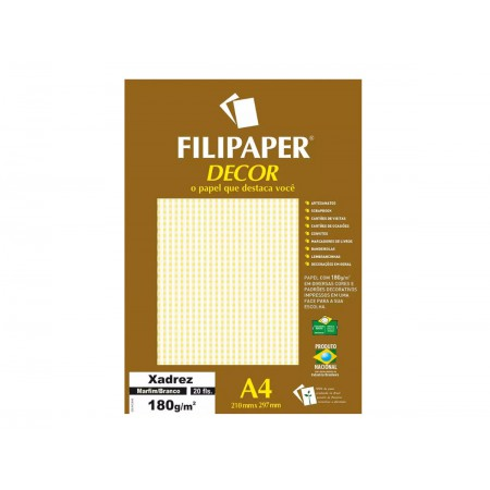 PAPEL COLOR SET A4 XADREZ MR/BR.180G.20F