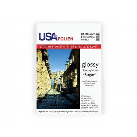 PAPEL FOTO PAPER 180G.GLOSSY A4 50F.