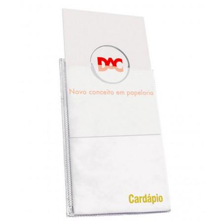 PASTA CARDAPIO 06PL.SIMPLES BRANCO PERS.