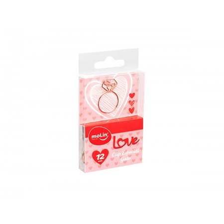 CLIPS 40MM ANEL LOVE ROSE C/12