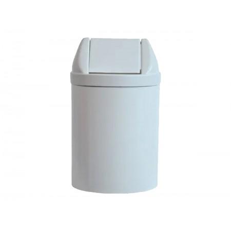 LIXEIRA 23L.PLAST.BRANCO 51X24 TP.BASC