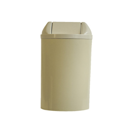 LIXEIRA 23L.PLAST.BEGE 51X24 TP.BASC