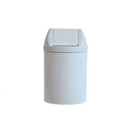 LIXEIRA 14L.PLAST.BRANCA 30X24 TP.BASC