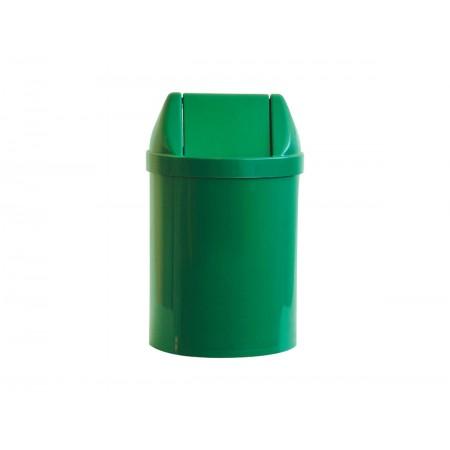 LIXEIRA 14L.PLAST.VERDE 30X24 TP.BASC