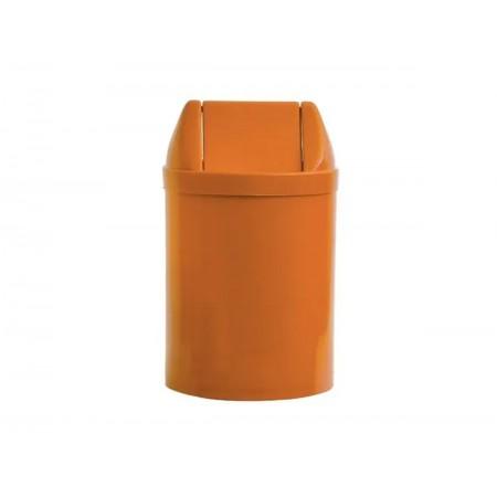 LIXEIRA 14L.PLAST.LARANJA 30X24 TP.BASC