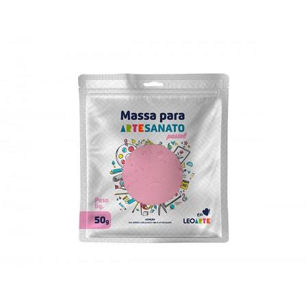 MASSA ARTESANATO ROSA PASTEL LEONORA 50G