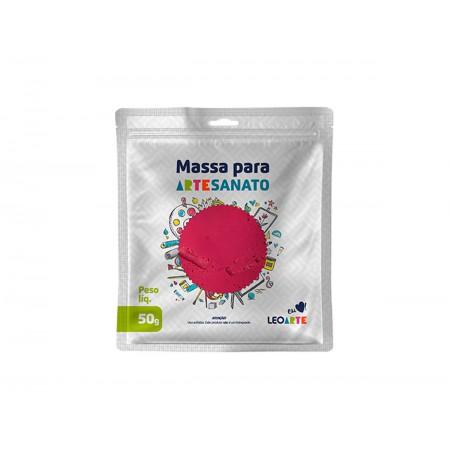 MASSA ARTESANATO ROSA PINK LEONORA 50G.