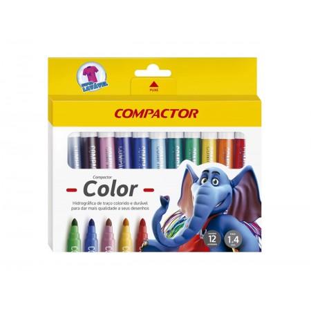 PINCEL ATOMICO 12 CORES COMPACTOR