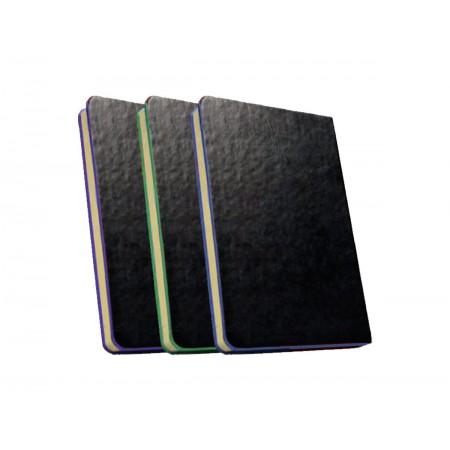 CADERNETA CART. 80F.BLACK 9X14CM.