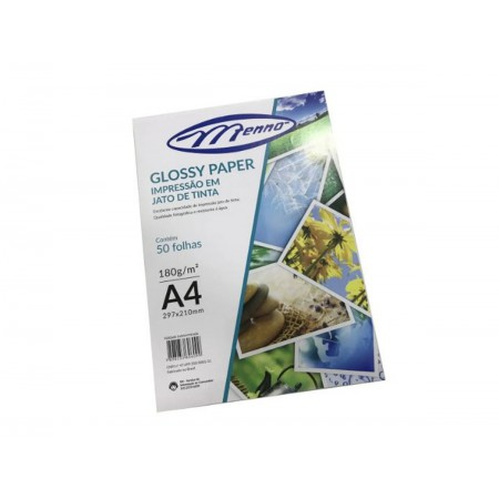 PAPEL GLOSSY PAPER 180GR. A4 C/50.